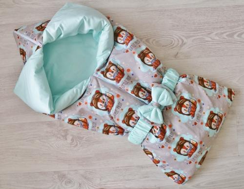 Летнее одеяло - конверт - трансформер на выписку Рыжик арт 2206