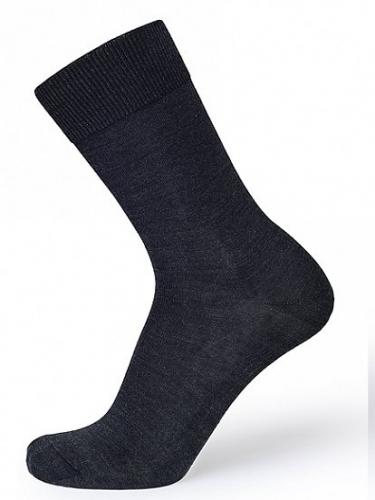 195p.386p. Носки мужские Wool+Silk, цвет: коричневый