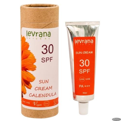 Солнцезащитный крем для тела КАЛЕНДУЛА 30SPF / 50мл /ТМ Levrana