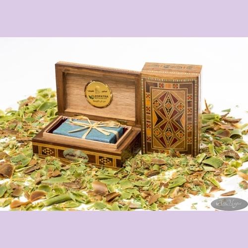 Мыло оливковое в шкатулке ручной работы Мозаика/с маслом роз.дерева и дамас.розы/1шт/150гр/ТМ Клеопатра