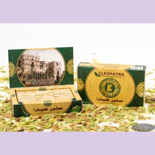 Набор мыла в  картонной подарочной коробке/оливковое с лавровым маслом/3шт/450гр/ТМ Клеопатра