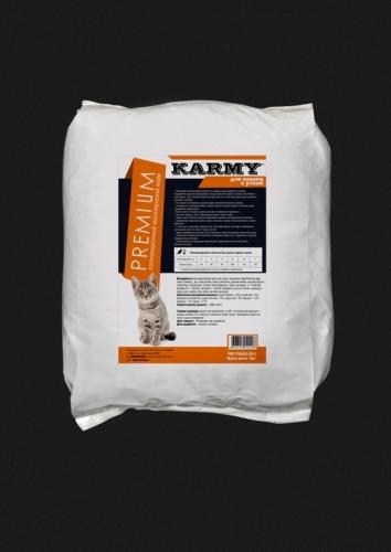 Премиум корм для кошек для кожи и шерсти лосось с рисом