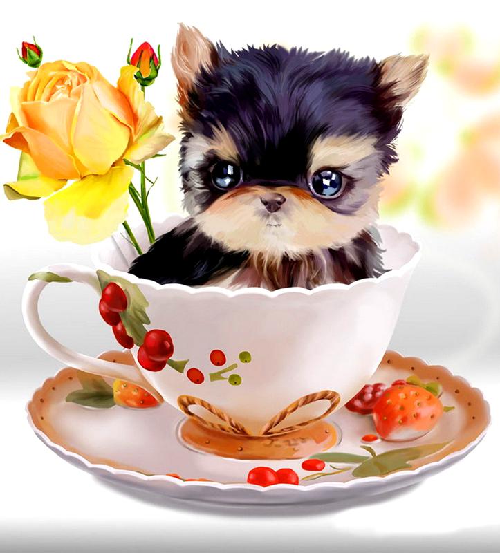 кампанула пожелать хорошего настроения картинки с милыми животными тех времен