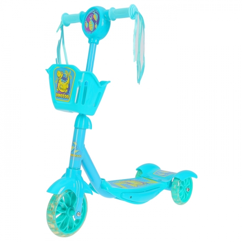 Самокат детский GRAFFITI DinoZoo, цвет голубой