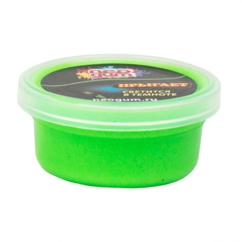 Жвачка для рук Neogum (Неогам), 25 гр, цвет зеленый, светится в темноте NGSM005