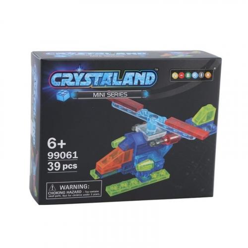 Конструктор Crystaland Мини Самолет, 38 деталей SHGS002