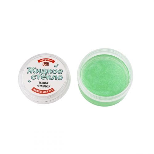 Жвачка для рук Neogum (Неогам) Жидкое стекло зеленый перламутр GL006