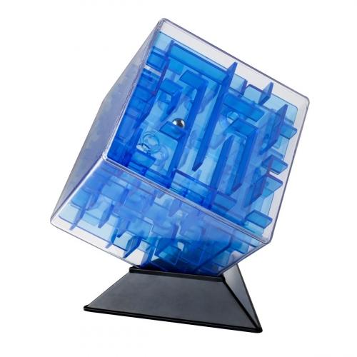 Лабиринтус Куб, 10см, синий, прозрачный LBC0001