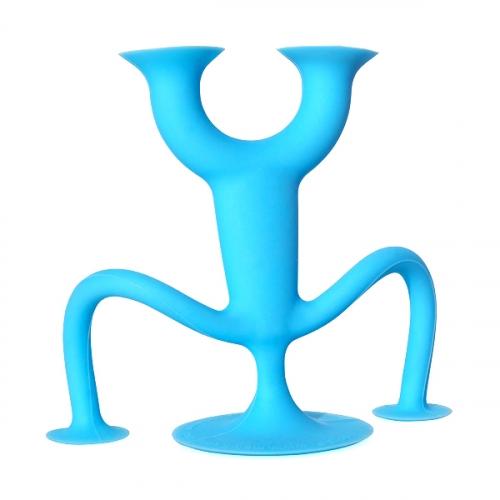 Конструктор - присоска Sibelly, фигурка 7х7, цвет синий SBL003