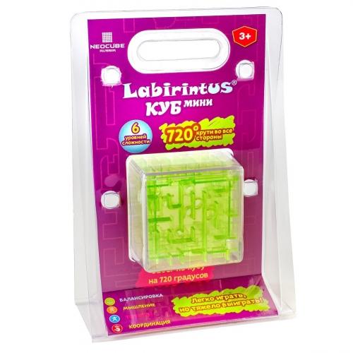 Лабиринтус Куб, 6см, зелёный, прозрачный LBC0004