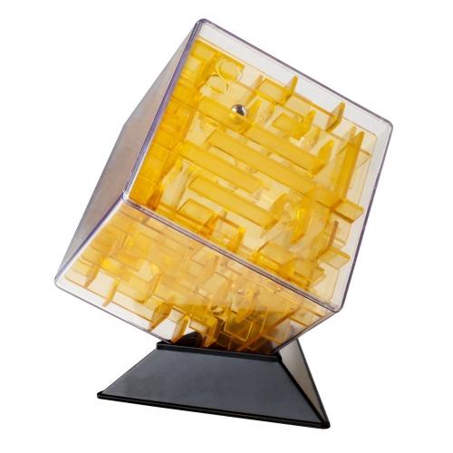 Лабиринтус Куб, 10см, жёлтый, прозрачный LBC0002