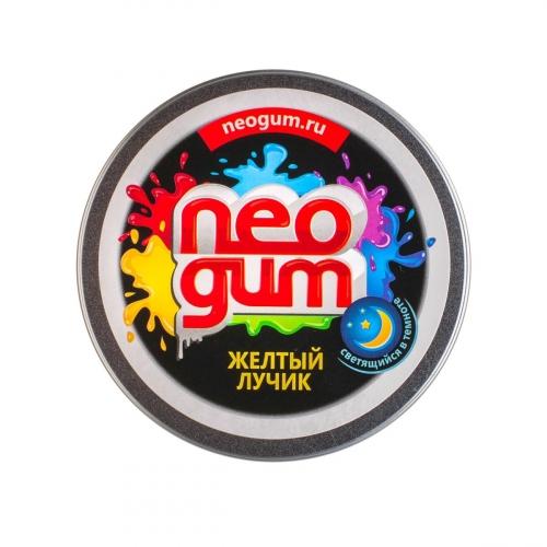 Жвачка для рук Neogum (Неогам) Желтый лучик, светится в темноте NG7009