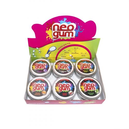 Жвачка для рук Neogum (Неогам), серия СуперБлеск. Огненный рубин NG7S001