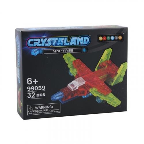 Конструктор Crystaland Мини Самолет, 32 детали SHGS004