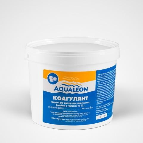 Средство для осветления воды в бассейнах Aqualeon в таблетках по 25 гр (банка, 1,5 кг) купить оптом и в розницу
