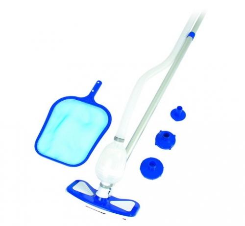 Набор для очистки бассейнов (сачок,пылесос для чистки дна,ручка 2,47м) от 457 см Bestway (58234) купить оптом и в розницу