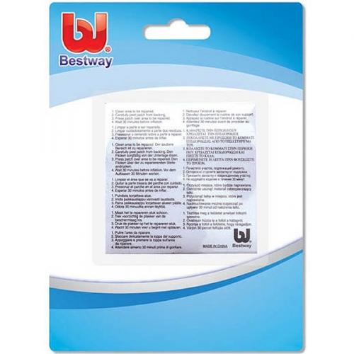 Ремкомплект: 10 самоклеящихся заплаток из ПВХ повышенной плотности 42,3 кв.см Bestway (62068) купить оптом и в розницу