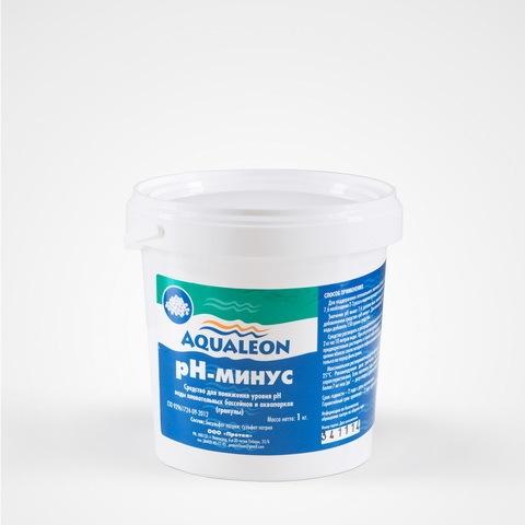 Средство для регулировки кислотности воды Aqualeon pH-минус в гранулах (банка,1 кг) купить оптом и в розницу