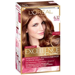 Краска для волос L`Oreal (Лореаль) Excellence (Экселленс), оттенок 6.32 - Золотистый темно-русый