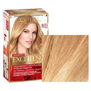 Краска для волос L`Oreal (Лореаль) Excellence (Экселленс), оттенок 8.03 - Пленительный блонд