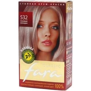 Краска для волос FARA (Фара) Classic 532 - Розовый блондин