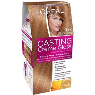 Краска для волос L'Oreal Paris (Лореаль) Casting Creme Gloss (Кастинг Крем Глосс) 832 - Крем-брюле