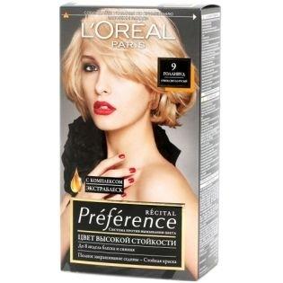 Краска для волос L`Oreal (Лореаль) Recital Preference (Преферанс) 9 - ГОЛЛИВУД Очень светло-русый
