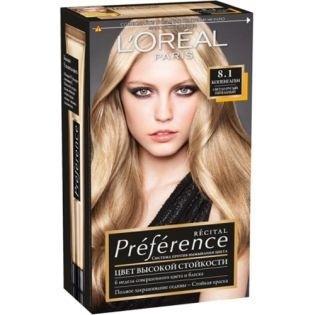 Краска для волос L`Oreal (Лореаль) Recital Preference (Преферанс) 8.1 - КОПЕНГАГЕН Светло-русый пепельный