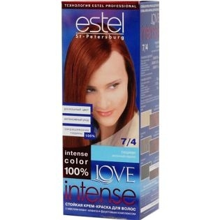 Краска для волос Estel Love Intense (Эстель Лав Интенс) 7/4 - Тициан