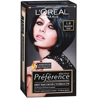 Краска для волос L`Oreal (Лореаль) Recital Preference (Преферанс) 1.0 - НЕАПОЛЬ Черный