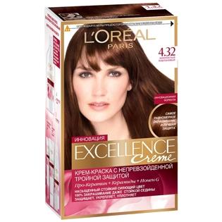 Краска для волос L`Oreal (Лореаль) Excellence (Экселленс), оттенок 4.32 - Золотистый каштан