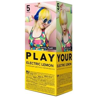 Краска для волос Estel PLAY (Эстель Плэй) Коллекция цветного мелирования, Тренд 5 - Electric Lemon (Желтый)