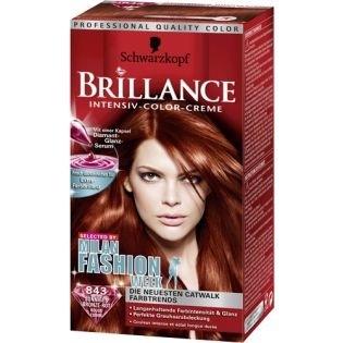 Краска для волос Brillance (Бриллианс) 843 - Романтический красный
