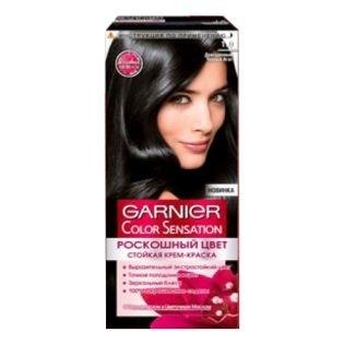 Краска для волос Garnier (Гарньер) Color Sensation, 1.0 Драгоценный черный агат