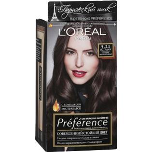 Краска для волос L`Oreal (Лореаль) Recital Preference (Преферанс) 5.21 - Нотр-Дам Глубокий светло-каштановый