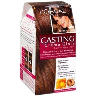 Краска для волос L'Oreal Paris (Лореаль) Casting Creme Gloss (Кастинг Крем Глосс) 600 - Темно-русый