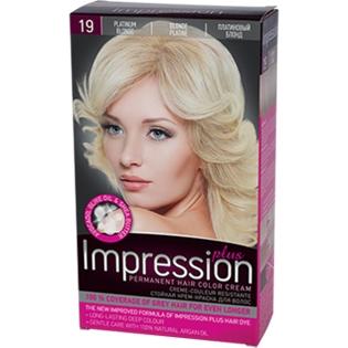 Краска для волос Impression Plus (Импрессион) № 19 - Платиновый блонд