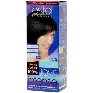Краска для волос Estel Love Intense (Эстель Лав Интенс) 1/0 - Черный