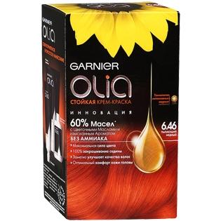 Краска для волос Garnier (Гарньер) Olia, 6.46 Пылающий медный