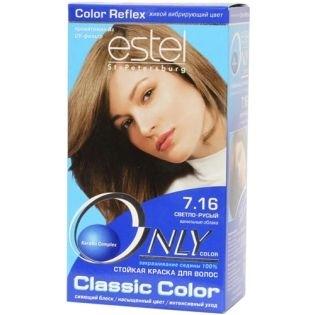 Краска для волос Estel Only Color (Эстель Онли Колор) 7.16 - Светло-русый