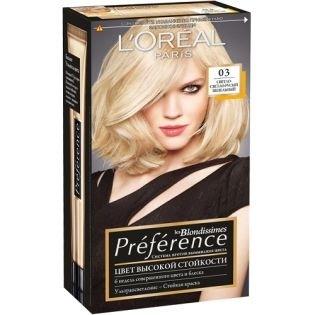 Краска для волос L`Oreal (Лореаль) Recital Preference (Преферанс) 03 - Светло-светло-русый пепельный
