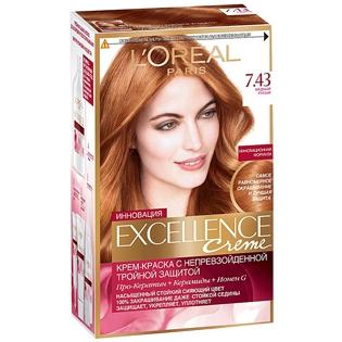 Краска для волос L`Oreal (Лореаль) Excellence (Экселленс), оттенок 7.43 - Медный русый