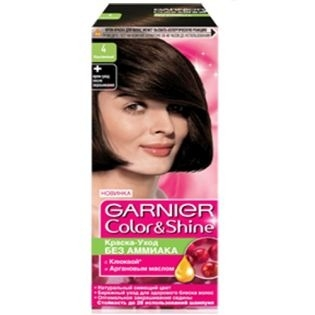 Краска для волос Garnier (Гарньер) Color Shine, 4.0 Каштановый