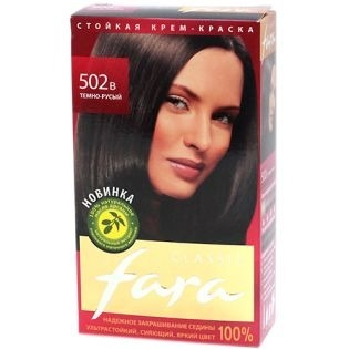 Краска для волос FARA (Фара) Classic 502в - Темно-русый