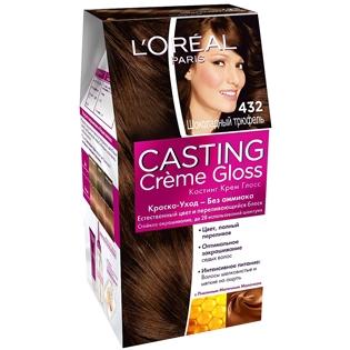 Краска для волос L'Oreal Paris (Лореаль) Casting Creme Gloss (Кастинг Крем Глосс) 432 - Шоколадный трюфель