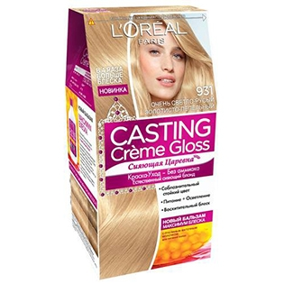 Краска для волос L'Oreal Paris (Лореаль) Casting Creme Gloss 931 - Очень светло-русый золотисто-пепельный