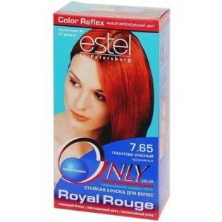 Краска для волос Estel Only Color (Эстель Онли Колор) 7.65 - Гранатово-Красный