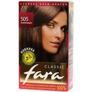 Краска для волос FARA (Фара) Classic 505 - Каштановый