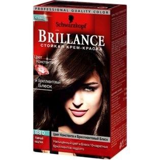 Краска для волос Brillance (Бриллианс) 880 - Темный каштан