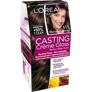 Краска для волос L'Oreal Paris (Лореаль) Casting Creme Gloss (Кастинг Крем Глосс) 515 - Морозный шоколад